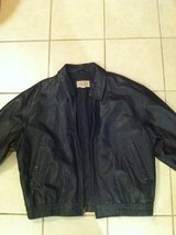 Black Leather Jacket in Camp Pendleton, California