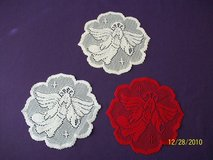 "brand new 8"" angel doilies (red only) in Goldsboro, North Carolina"