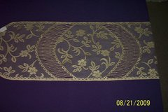 """new 48"""" sand/gold """"floating flower"""" lace runners in Goldsboro, North Carolina"""