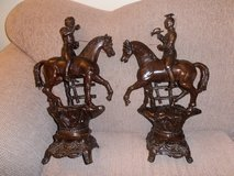 Pair of RARE French Art Cast Bronze Statues in Ramstein, Germany