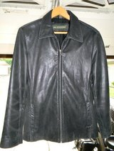 Womans Docker Black Leather Jacket in Naperville, Illinois