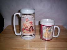 1989 NORMAN ROCKWELL THERMAL MUG & CUP in Camp Lejeune, North Carolina