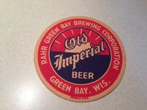 Antique bar coaster in Naperville, Illinois