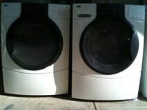 BOSCH NEXXT FRONTLOAD WASHER & DRYER SET STAINLESS W/PEDESTAL/WARRANTY in Fairfax, Virginia
